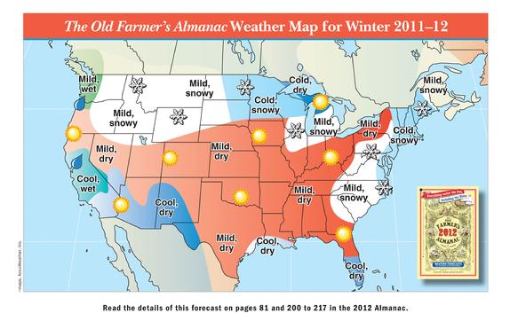 Farmers' Almanac 2012 2013 Winter